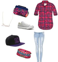 """""""going to the 1d concert with Perrie, Dani and El:)"""" by bethabone ❤ liked on Polyvore"""
