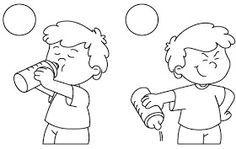 Dibujos para reconocer las acciones buenas o malas  (de la web)