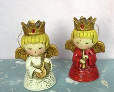 japanese 1960's angel christmas ornaments