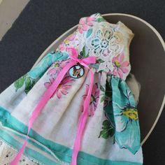 Blythe Doll Hanky Dress Spring Blue Flowers Pink by RobinswoodDolls on Etsy https://www.etsy.com/listing/506536562/blythe-doll-hanky-dress-spring-blue