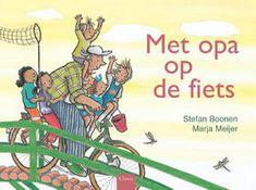 Met opa op de fiets - digitaal Gesproken boek, ideaal voor het vergroten van de taalvaardigheid! Grandma And Grandpa, Preschool, Teaching, Sports, Books, Kids, Transport, Graphics, Illustrations