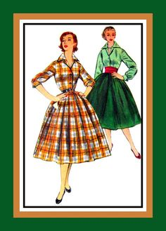 Vintage 1955 Fabulous Fifties Ladies Dress by FarfallaDesignStudio, $18.00