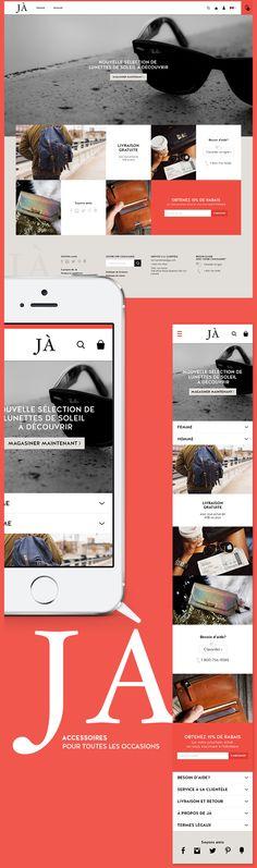 JÀ, boutique d'accessoires en ligne on Behance