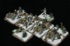 Flames of War Volks Grenadier Infantry Gun Platoon. Painted by Panzer Schule for Worlds at War.