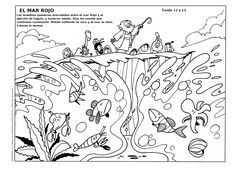 good news for kids coloring moses crossing the red sea