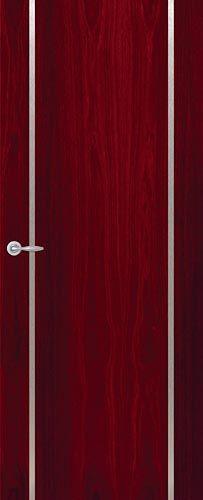 Front door with metal inlay. SOHJ11 - SoHo Internal Door in Jarrah