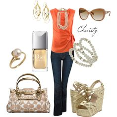 summer outfit...coral