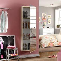 Sapateira Madesa Lux Com Espelho Tirol e Branco