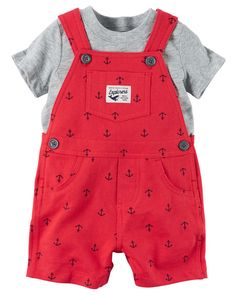 Baby Boy 2-Piece Top & Shortalls Set from Carters.com. Shop clothing & accessories from a trusted name in kids, toddlers, and baby clothes.