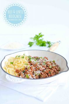 'Boost your Basic' Beef & Lentil Bolognese - One Handed Cooks