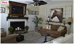 Love this picture and living room. Found at: http://downtoearthstyle.blogspot.com/2013/07/new-canvas-arta-horse.html