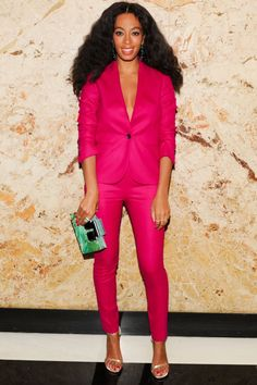 Solange Knowles In A Pink Suit