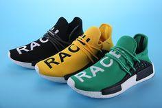 "Pharrell Williams X adidas NMD HUMAN RACE""black white"" S79167 Unisex Size EUR 36-45"