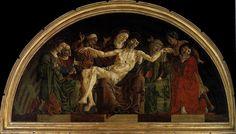 File:Cosmè tura, pietà dal polittico roverella, 1474 ca. La Pieta, Giovanni Bellini, Fra Angelico, Louvre, Tempera, Renaissance Art, 15th Century, African Art, Mythology