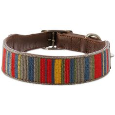 Bond+&+Co.+Multi+Stripe+Collar+-+Show+off+your+pup+s+unique+style+with+the+Bond+&+Co.+Multi-Stripe+Dog+Collar.+Featuring+distinctive+color+lines+and+genuine+leather+bands,+this+dog+collar+is+the+perfect+blend+of+comfort+and+class. - http://www.petco.com/shop/en/petcostore/product/bond-and-co-multi-stripe-collar