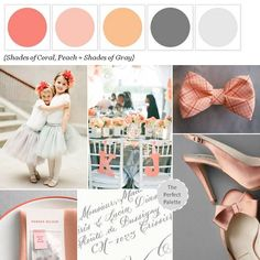 {Ballerinas + Bow Ties}: Shades of Coral, Peach + Gray! http://www.theperfectpalette.com/2013/03/ballerinas-bowties-shades-of-coral.html