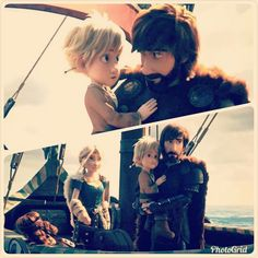 Hiccup and Astrid with their kids at the end the The Hidden World movie Hiccup And Toothless, Hiccup And Astrid, Httyd 3, Toothless Dragon, Dreamworks Dragons, Disney And Dreamworks, Disney Pixar, How To Train Dragon, How To Train Your