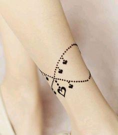 leg ankle henna tattoo mantra - Google Search