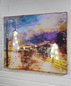 Look at this #zulilyfind! Lighted Down on the Boardwalk Canvas #zulilyfinds
