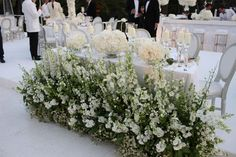 Top table frontage, South of France wedding.