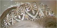 Diamond Baden Palmette Tiara - 1856 - by Koch - gift for Princess Louise of Prussia from her father Emperor Wilhelm I of Germany for her wedding to Grand Duke Frederick of Baden - to daughter Queen Victoria of Sweden - to granddaughter Queen Ingrid of Denmark - to her daughter Queen Margethe II of Denmark
