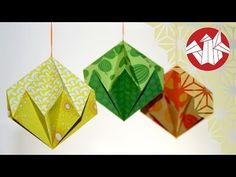 Easy and rich - Origami diamond ornaments. Christmas decoration. Ideas for Christmas - YouTube