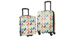 Have you seen the colorful Mickey Suitcases from American Tourister at Costco? It seems like they are always selling out online! Looks like they are back Disney Travel, Disney World Vacation, Disney Trips, Minnie Mouse Suitcase, Small World Vacations, Disney Luggage Tags, Proud Wife, Adventures By Disney, Suitcases