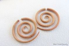 Shop for on Etsy, the place to express your creativity through the buying and selling of handmade and vintage goods. Wooden Earrings, Earrings Handmade, Faux Gauges, Spiral, Piercings, Jewlery, Stud Earrings, Group, Trending Outfits