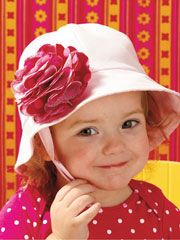 Adorable hats to make for your little toddler to keep the sun out of their eyes.