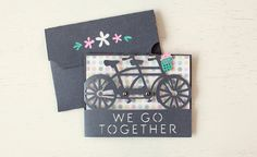 We Go Together Card made with the Classically Modern Cards Cricut Cartridge. Make It Now with the Cricut Explore machine in Cricut Design Space.