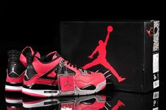 best website 4dd7e 36621 Limited Nike Air Jordan 4 Mens Fish Pattern in Red and Black