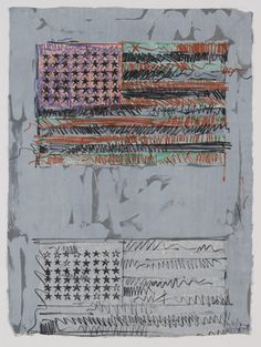 Jasper Johns Flags II, 1970. Lithograph, 33 3/8 x 24 1/2 inches, Edition of 9, Publisher and printer: Universal Limited Art Editions, West Islip, New York. Edition: 9. Gift of the Celeste and Armand Bartos Foundation. © 2012 Jasper Johns and U.L.A.E. / Licensed by VAGA, New York, NY, Collection of The Museum of Modern Art, New York