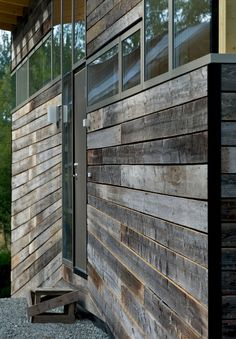 rustic, modern, barn - would be cool  for chicken coop