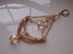 Chain Earrings Bridal Earrings Chandelier Earrings by lscaturo, $95.00