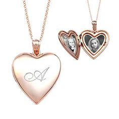 Pretty in Pink!  This brand new rose gold engraved locket can be personalized front and back.