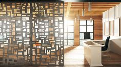 Japanese-inspired metal screens from our Laser Cut collection in Tic Tac . Textured Wall Panels, Decorative Wall Panels, Metal Panels, Decorative Metal, Laser Cut Metal, Laser Cutting, Custom Metal Fabrication, Painted Bamboo, Metal Screen
