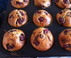 Rezept Kirschmuffin mit Schokostücken von Stoffeltierchen - Rezept der Kategorie Backen süß