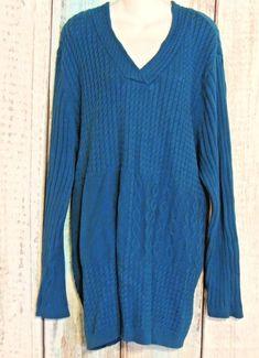 20faacd87ef Liz  amp  Me Plus Size 4X Blue Knit Cardigan Sweater  LizMe  Cardigan