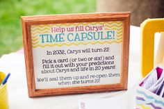 1st Birthday Time Capsule