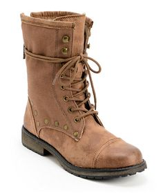 Roxy Concord Brown Leather Boots at Zumiez