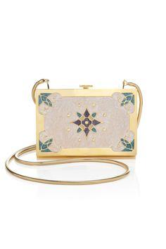 Cream Khalil Box Clutch by Lena Erziak Pink Clutch, Clutch Bag, Great Gatsby Fashion, Art Deco Movement, Pink Handbags, Box Bag, Evening Bags, Bag Making, Fashion Bags