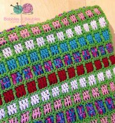 Boxy Neon Afghan - Bobbles & Baubles - Tutorial - ♡ Teresa Restegui http://www.pinterest.com/teretegui/ ♡