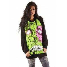 Zombie Chomper Hoody ❤ Black