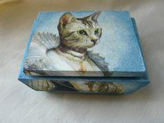 Victorian Jewelry Box Cat Wooden Box Cat Home by TwoCatsAndAnOwl