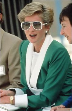 November 15 1986 Princess Diana Wears A Pair Of Designer Sun-glasses On A Tour Of The Doha English Speaking School In Qatar