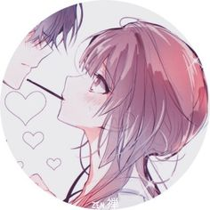 Anime Couples Drawings, Anime Couples Manga, Kawaii Anime Girl, Anime Art Girl, Anime Couple Kiss, Cute Anime Coupes, Cute Couple Wallpaper, Cute Kiss, Matching Profile Pictures