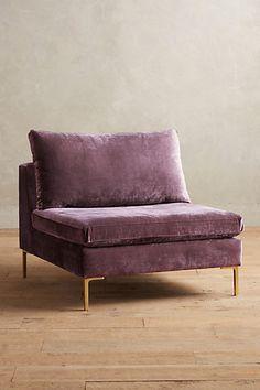 Slub Velvet Edlyn Chair #anthropologie