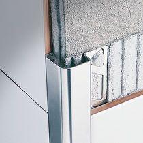 Stainless steel edge trim / for tiles / outside corner