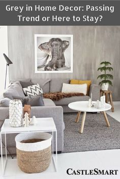 "Grey in Home Decor: Passing Trend or Here to Stay? ""Grey is the new beige."" You may have heard this a time or two over the last decade or so. #RealEstate #HomeDecorIdeas  See more at: http://castlesmart.com"