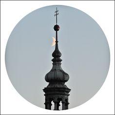 Church/moon/tower
